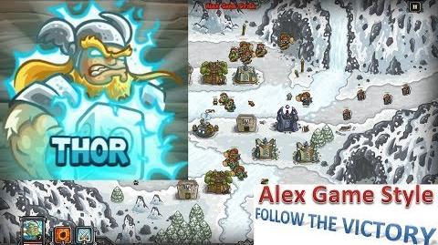Kingdom Rush HD (Bonus Premium Level 17 Glacial Heights) Heroic Hero - Thor