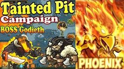Kingdom Rush Origins HD - BOSS Godieth Tainted Pit Campaign (Level 18) Hero Phoenix Bolverk