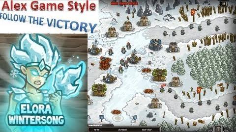 Kingdom Rush HD (Bonus Premium Level 18 Ha'kraj Plateau) Iron Challenge Hero - Elora Wintersong