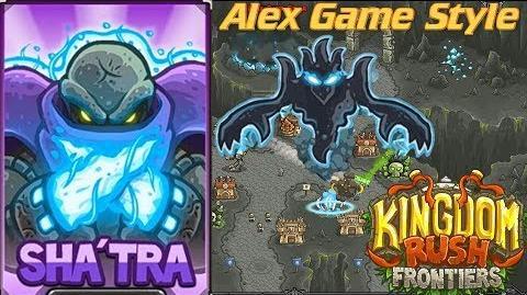 Kingdom Rush Frontiers HD Final BOSS Emberspike Depths Campaign Level 15 Hero Sha'tra