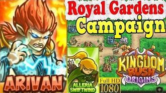 Kingdom Rush Origins HD - Royal Gardens Campaign (Level 5) Hero Arivan Alleria Swiftwind