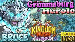 Kingdom Rush Origins HD - Grimmsburg Heroic (Level 8) Hero Bruce