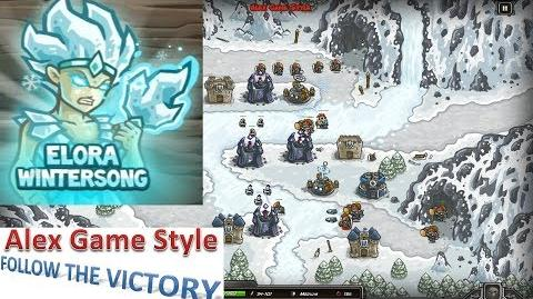 Kingdom Rush HD (Bonus Premium Level 17 Glacial Heights) Campaign Hero - Elora Wintersong