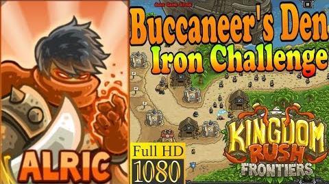 Kingdom Rush Frontiers HD - Buccaneer's Den Iron Challenge - Hero Alric (Level 5)