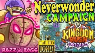 Kingdom Rush Origins HD - Neverwonder Campaign (Level 10) Hero Razz and Rags