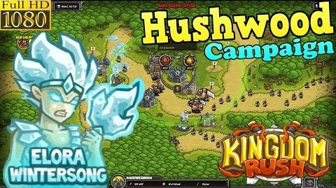 Kingdom Rush HD - Hushwood Campaign (Level 14) Hero - Elora Wintersong only 3 StarS