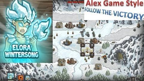 Kingdom Rush HD (Bonus Premium Level 17 Glacial Heights) Iron Challenge Hero - Elora Wintersong