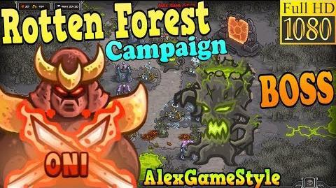 Kingdom Rush HD - BOSS Greenmuck Rotten Forest Campaign (Level 23) Hero - Oni