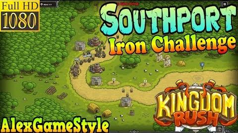 Kingdom Rush HD - Southport Iron Challenge (Level 1) only 3 StarS