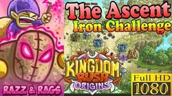 Kingdom Rush Origins HD - The Ascent Iron (Level 12) Hero Razz and Rags