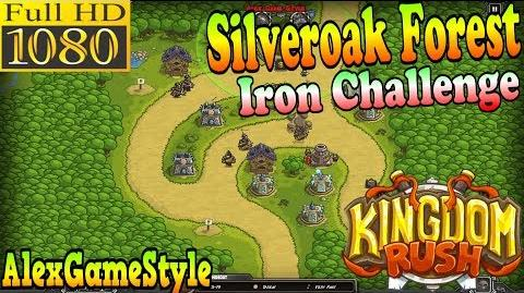 Kingdom Rush HD - Silveroak Forest Iron Challenge (Level 5)