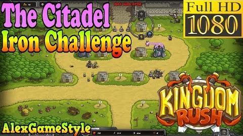 Kingdom Rush HD - The Citadel Iron Challenge (Level 6)