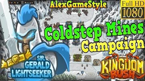 Kingdom Rush HD - Coldstep Mines Campaign (Level 7) Hero - Sir. Gerald Lightseeker
