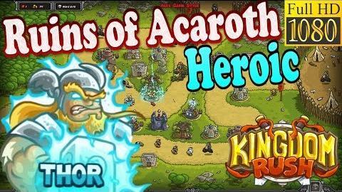 Kingdom Rush HD - Ruins of Acaroth Heroic (Level 16) Hero - Thor