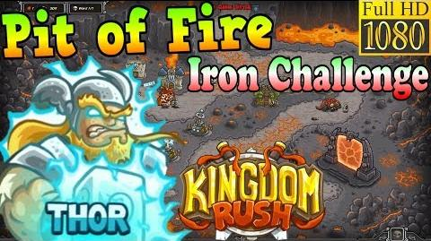 Kingdom Rush HD - Pit of Fire Iron Challenge (Level 25) Hero - Thor