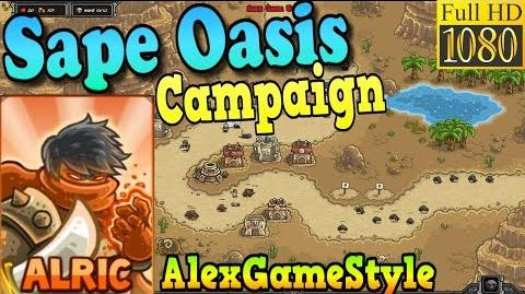 Kingdom Rush Frontiers HD - Sape Oasis Campaign (Level 3) Hero Alric