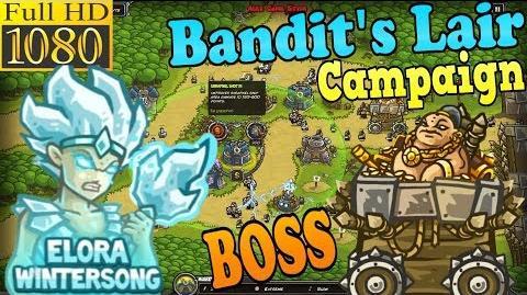 Kingdom Rush HD - BOSS Kingpin Bandit's Lair Campaign (Level 15) Hero - Elora Wintersong
