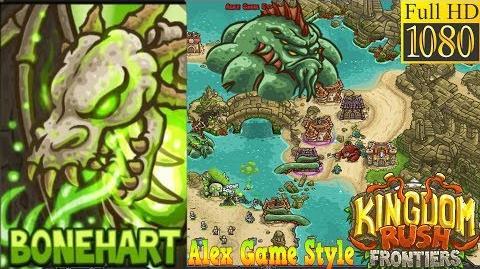 Kingdom Rush Frontiers HD - BOSS Leviathan - The Sunken Citadel Campaign Level 18 - Hero Bonehart