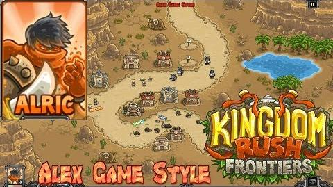 Kingdom Rush Frontiers HD Sape Oasis Campaign Level 3 Hero Alric