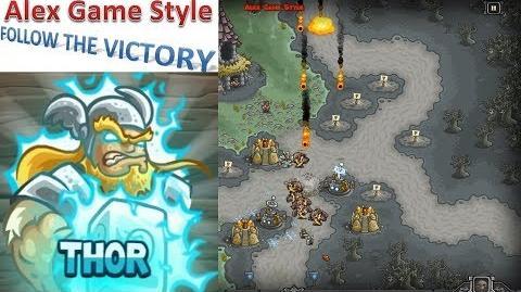 Kingdom Rush HD (Bonus Premium Level 21 Nightfang Swale) Iron Challenge Hero - Thor