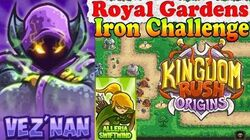Kingdom Rush Origins HD - Royal Gardens Iron (Level 5) Hero Vez'nan Alleria Swiftwind