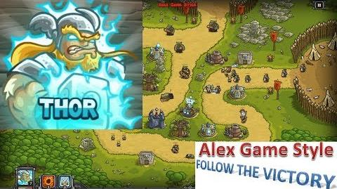 Kingdom Rush HD (Bonus Premium Level 16 Ruins of Acaroth) Heroic Hero - Thor