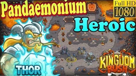 Kingdom Rush HD - Pandaemonium Heroic (Level 26) Hero - Thor