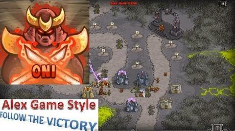 Kingdom Rush HD (Bonus Premium Level 23 Rotten Forest) Iron Challenge Hero - Oni