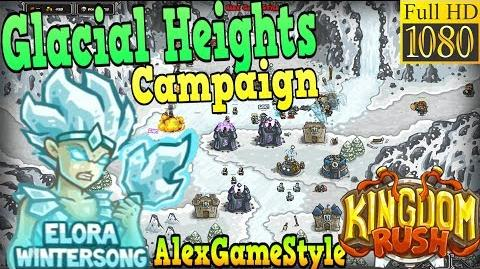 Kingdom Rush HD - Glacial Heights Campaign (Level 17) Hero - Elora Wintersong