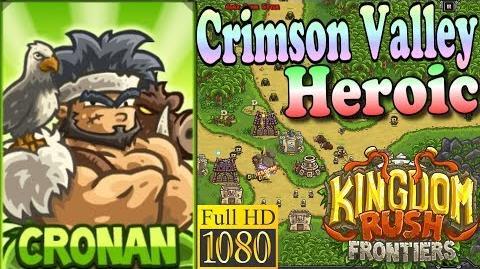 Kingdom Rush Frontiers HD - Crimson Valley Heroic (Level 7) - Hero Cronan