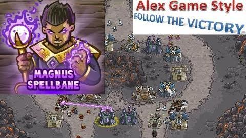 Kingdom Rush HD (Level 11 Forsaken Valley) Campaign Hero - Magnus Spellbane only 3 StarS