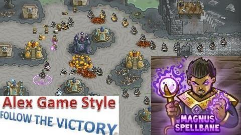 Kingdom Rush HD (Bonus Premium Level 22 Castle Blackburn) Iron Challenge Hero - Magnus Spellbane