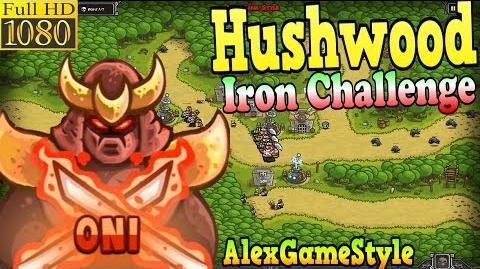 Kingdom Rush HD - Hushwood Iron Challenge (Level 14) Hero - Oni