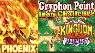 Kingdom Rush Origins HD - Gryphon Point Iron (Level 6) Hero Phoenix