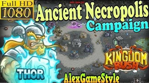 Kingdom Rush HD - Ancient Necropolis Campaign (Level 20) Hero - Thor only 3 StarS