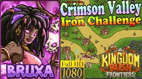 Kingdom Rush Frontiers HD - Crimson Valley Iron Challenge (Level 7) - Hero Bruxa