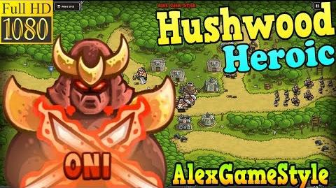 Kingdom Rush HD - Hushwood Heroic (Level 14) Hero - Oni
