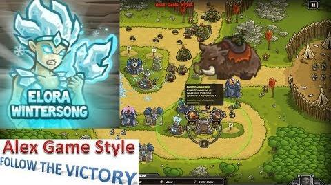 Kingdom Rush HD (BOSS Bonus Premium Level 16 Ruins of Acaroth) Campaign Hero - Elora Wintersong