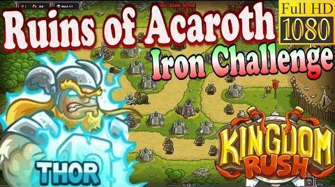 Kingdom Rush HD - Ruins of Acaroth Iron Challenge (Level 16) Hero - Thor