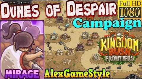 Kingdom Rush Frontiers HD - Dunes of Despair Campaign (Level 4) Hero Mirage