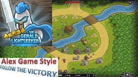 Kingdom Rush HD (Level 4 Twin Rivers) Campaign Hero - Sir. Gerald Lightseeker only 3 StarS
