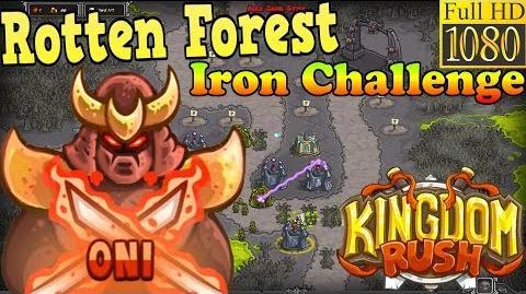 Kingdom Rush HD - Rotten Forest Iron Challenge (Level 23) Hero - Oni