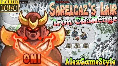 Kingdom Rush HD - Sarelgaz's Lair Iron Challenge (Level 13) Hero - Oni