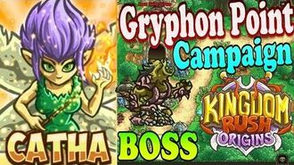 Kingdom Rush Origins HD - BOSS Hi-Hi Enha Gryphon Point Campaign (Level 6) Hero Catha