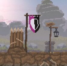 Defensive Wall with Banner
