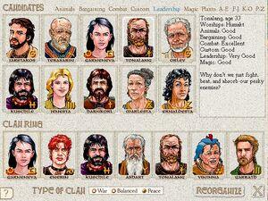 Reorganize Clan Ring Screen