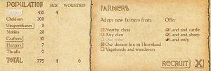 Recruit farmers