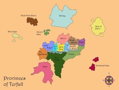 Provinces of Terfall
