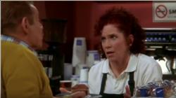 Arthur gives waitress Gloria advice