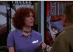 Gloria confronts Arthur at Video Store